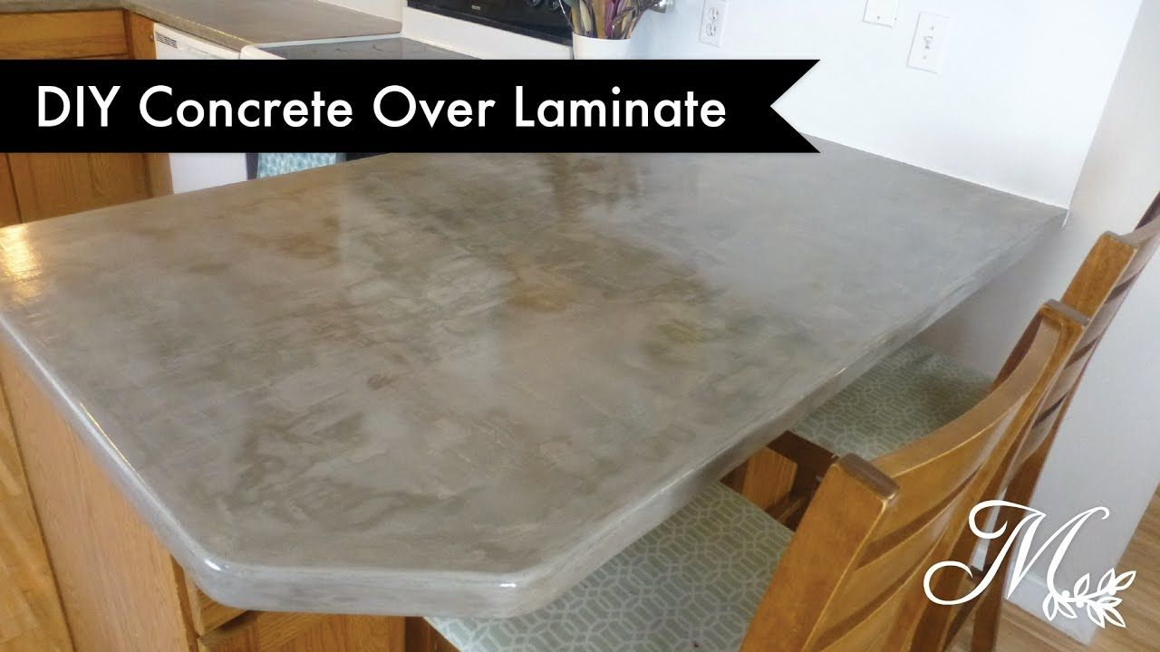 Diy Concrete Over Laminate Countertops Using Feather Finish