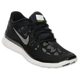 Nike Free 5.0 Shield Running Shoes  FinishLine.com  BlackReflect Silver