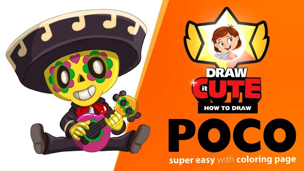 How to draw Poco super easy with coloring page Frans
