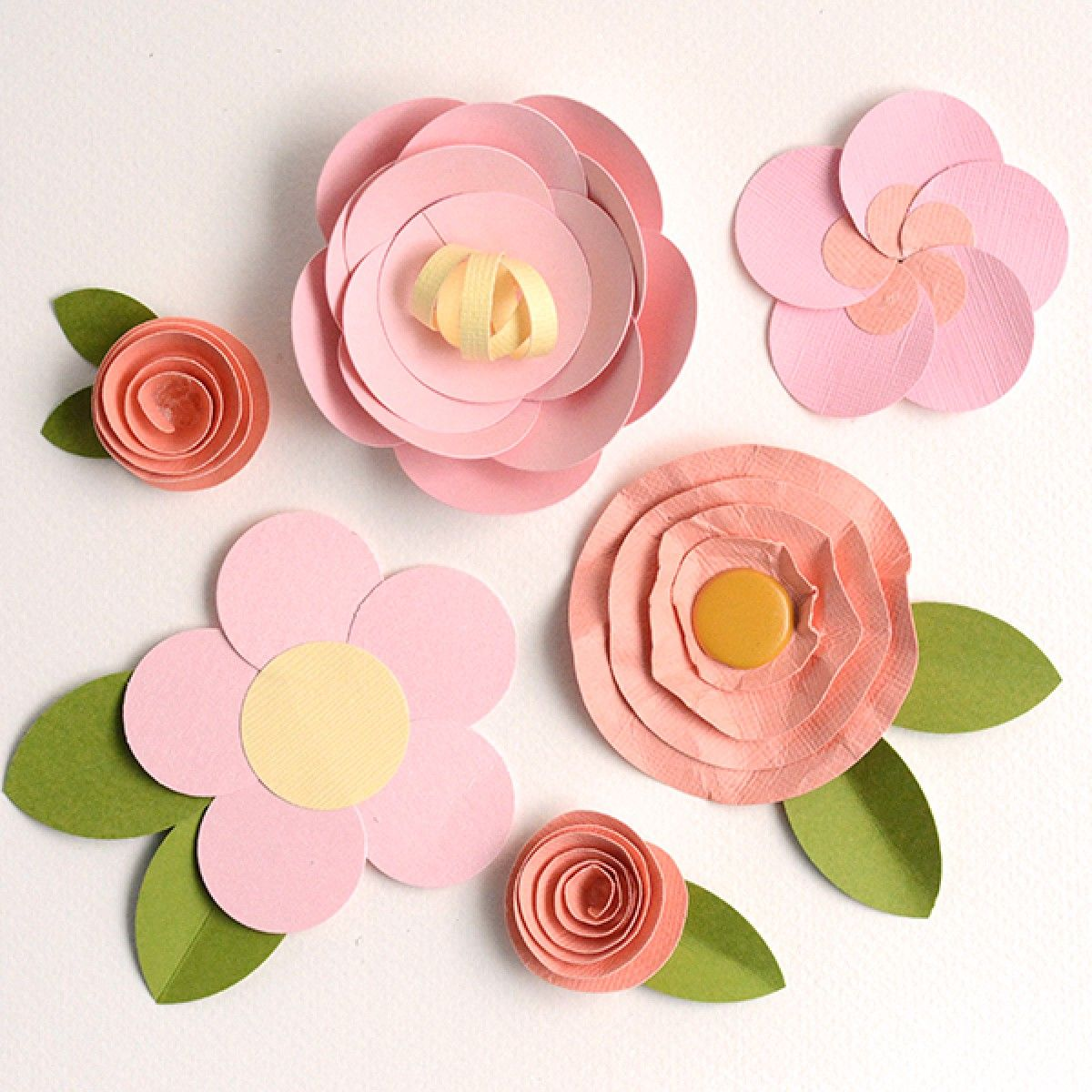 Make Easy Paper Flowers 5 Fast Fun Tutorials Paper Flower