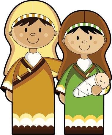Nativity high resolution. Mary joseph and baby