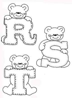 Desenhos Alfabeto Ursinhos Enfeite Sala De Aula Infantil 5 With