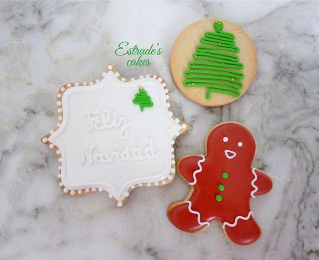 Estrade's cakes: galletas de Navidad decoradas con glasa
