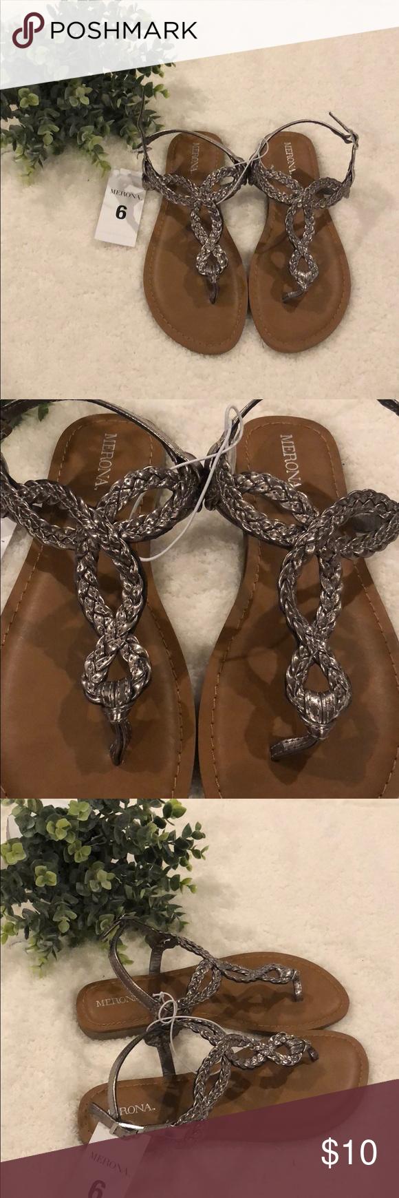 e993e90efab2 Merona Women s Size 6 Jana Strap Sandals Size  Women s 6 Color  pewter