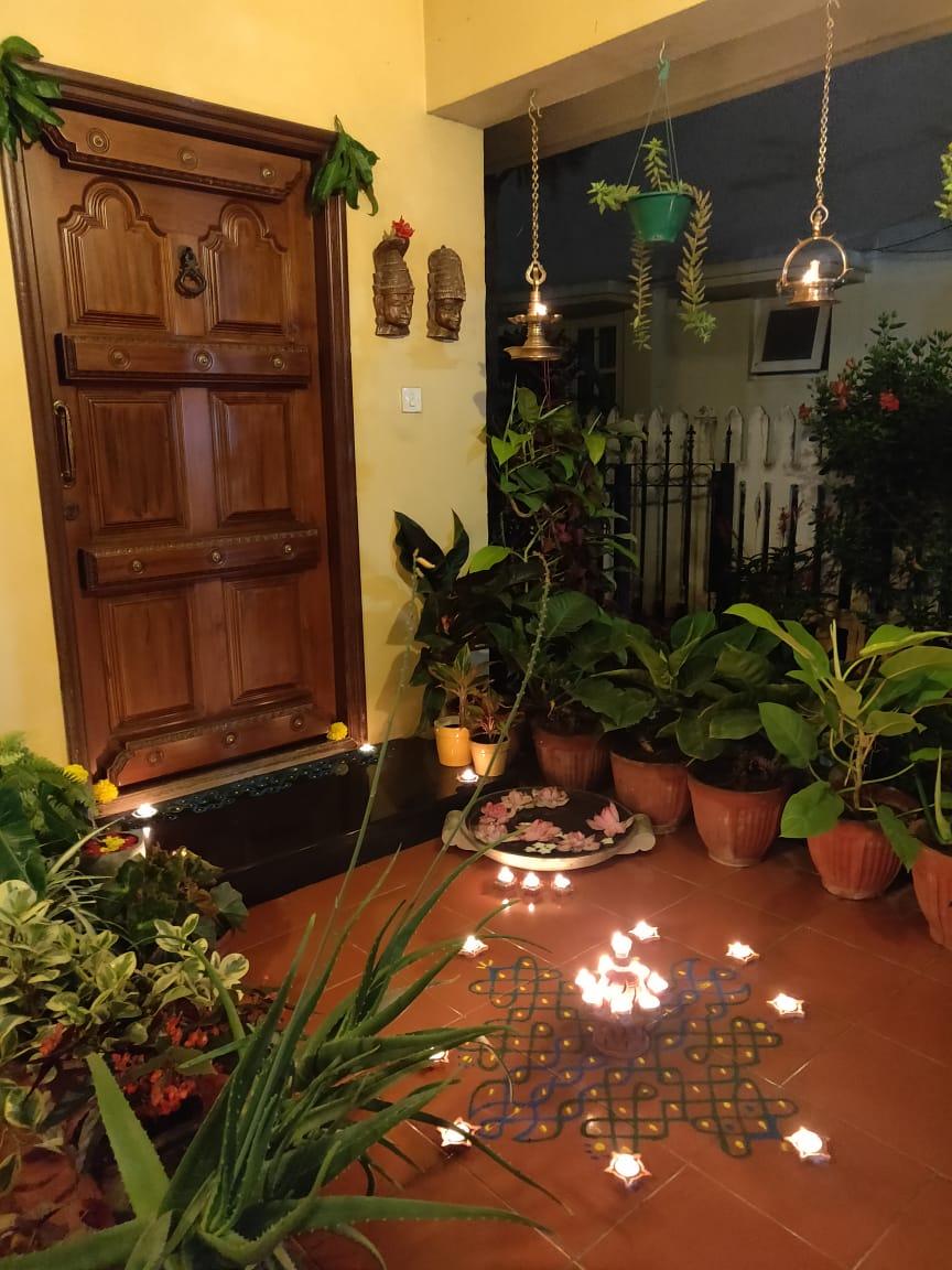 Front Door Diwali Decor Diwali Decorations At Home Home Entrance Decor Indian Home Design