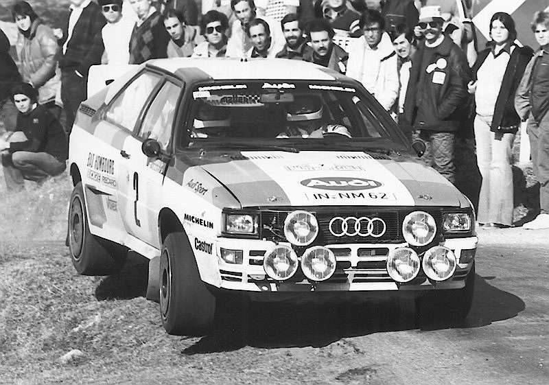 Rally Monte-Carlo 1983 .HANNU Mikkola Audi Sport Quatro