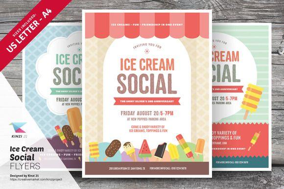 Ice Cream Social Flyer Templates Ice Cream Social Flyer Template