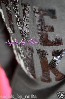 99 Cent #LaborDay #VSPINK #ebay #auction ends #SundayNEW Victoria'S Secret Love Pink M Black Bling Ribbed Knit Jersey Style Shirt TOP | eBay