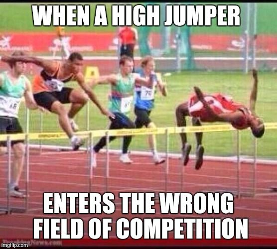 Life Hurdles Quotes: WHEN A HIGH JUMPER ENTERS THE
