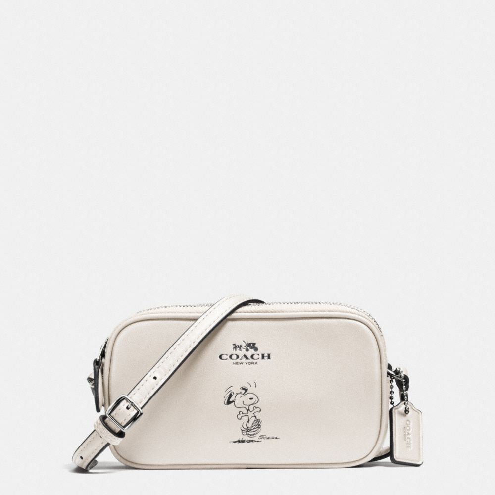c81f2e620 NWT COACH X PEANUTS SNOOPY CROSSBODY POUCH CALF LEATHER WHITE, SEALED BOX.  65195 #COACH #MessengerCrossBody