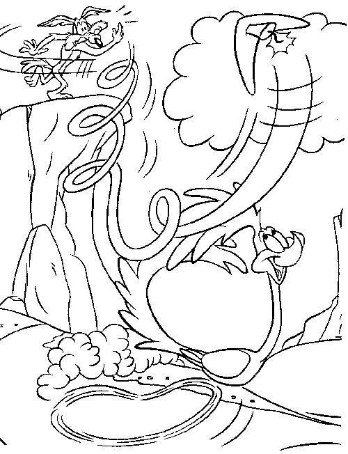 Dibujos para Colorear Correcaminos y el Coyote 4