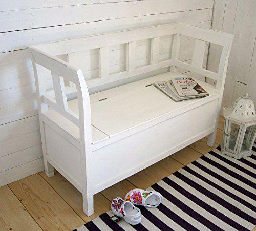 truhenbank truhenbank shabby chic kchenbank cm weiss inkl. Black Bedroom Furniture Sets. Home Design Ideas