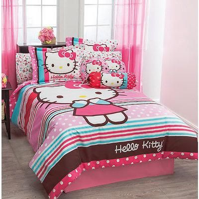 Sanrio hello kitty duvet set shams pillow girl 39 s bedroom - Pottery barn hello kitty ...
