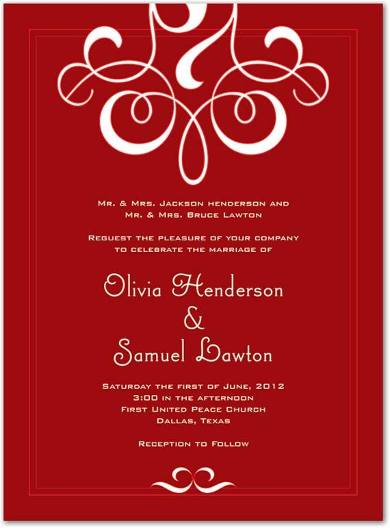 Elegant Wedding Invitations Design Elegant And Classic Red Wedding - invitation designs