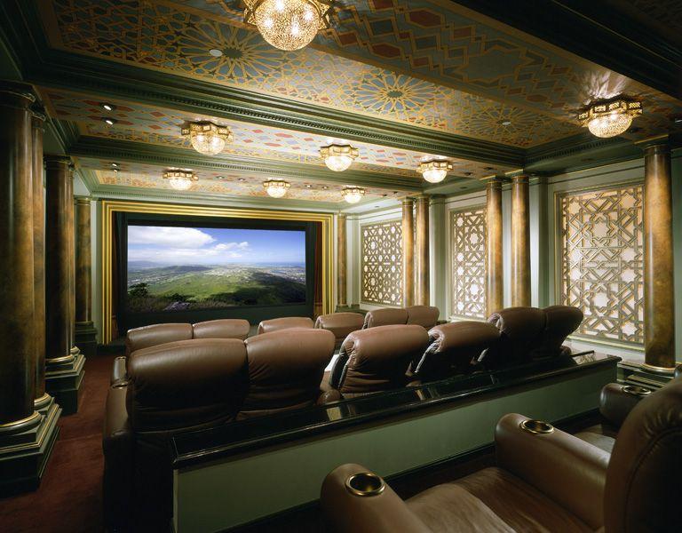 Beverly Park Mansion of Actor Eddie Murphy in Beverly Hills movie theater