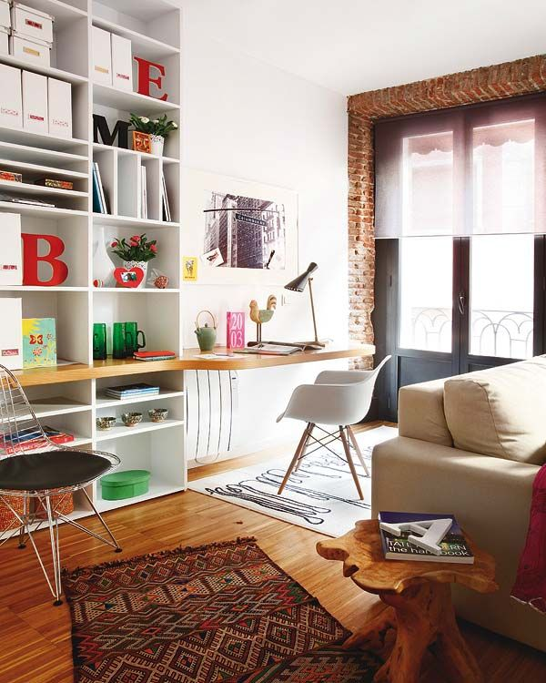 Cozy Tiny Apartment In Madrid With A Youthful And Chic Interior Pleasing Living Room Ideas For Apartments Pictures Decorating Design