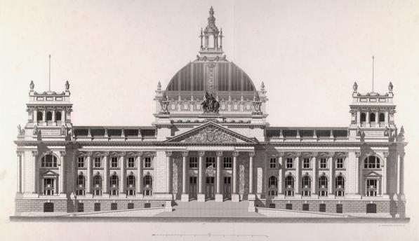 Berlin Reichstag Built 1884 94 Arch Paul Wallot Reichstags Building In Berlin West Facade Engr Alte Architektur Schone Gebaude Reichstagsgebaude