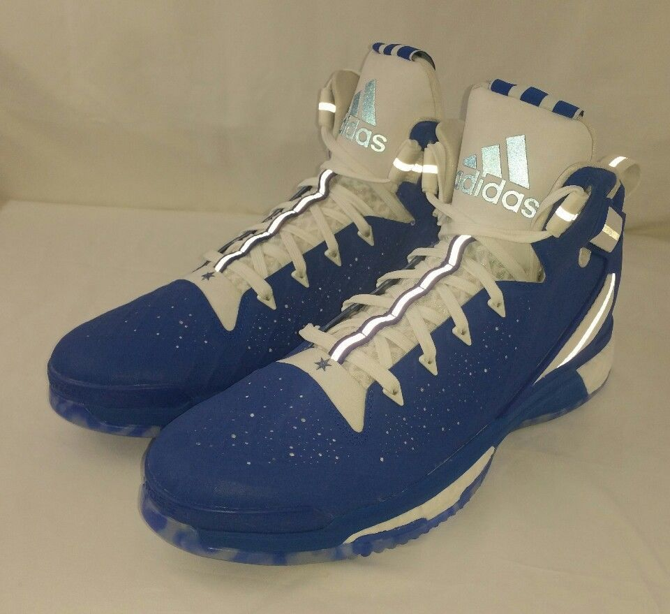01e542542a6e Adidas D Rose 6 Boost Basketball Athletci Shoes Mens Size 16 US Blue White  New  Adidas  BasketballShoes