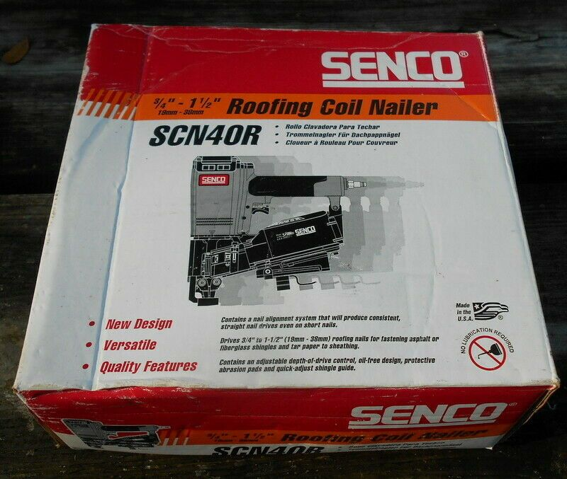 Sponsored Ebay Used Senco Model Scn40r Roofing Coil Nailer Coil Nailer Nailer Roofing