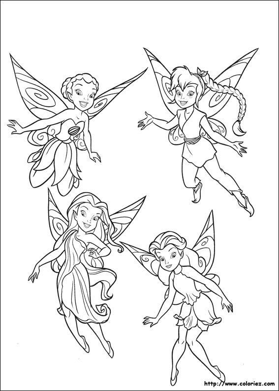 coloriage-la-fee-clochette-7762[1].jpg | fées, lutins, farfadets et ...