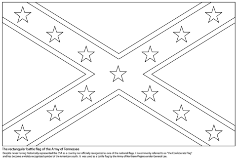confederate flag coloring page from american civil war category ... - American Civil War Coloring Pages