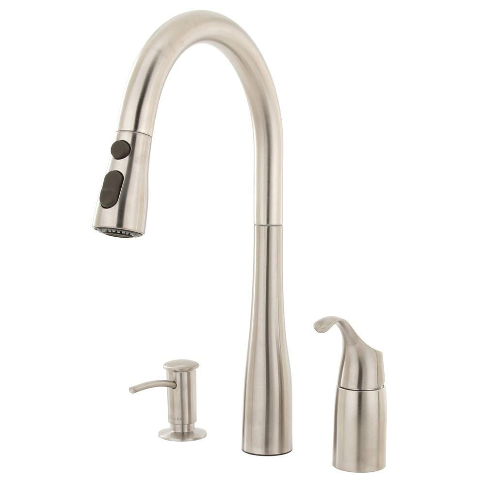 KOHLER Simplice Single-Handle Pull-Down Sprayer Kitchen ...