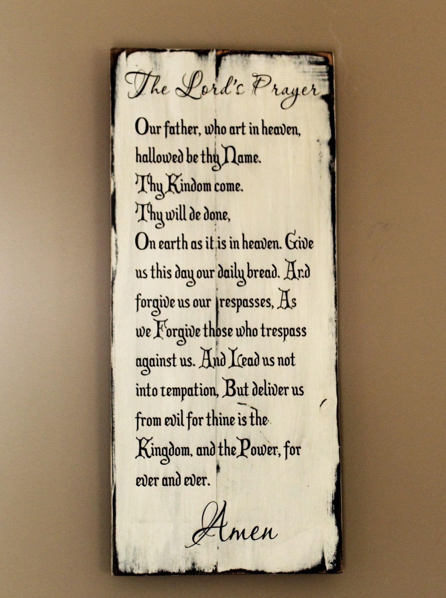 the lord u0027s prayer made of reclaimed wood christian wall art