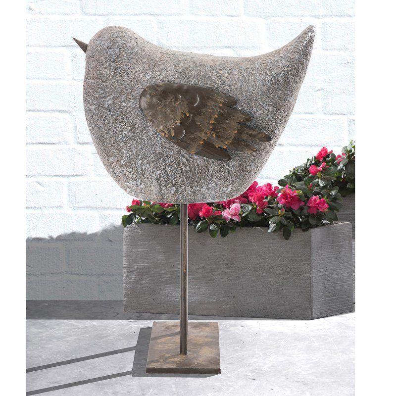 Sunjoy Whimsical Garden Sparrow Statue 110301048 Whimsical Garden Garden Statues Metal Garden Art