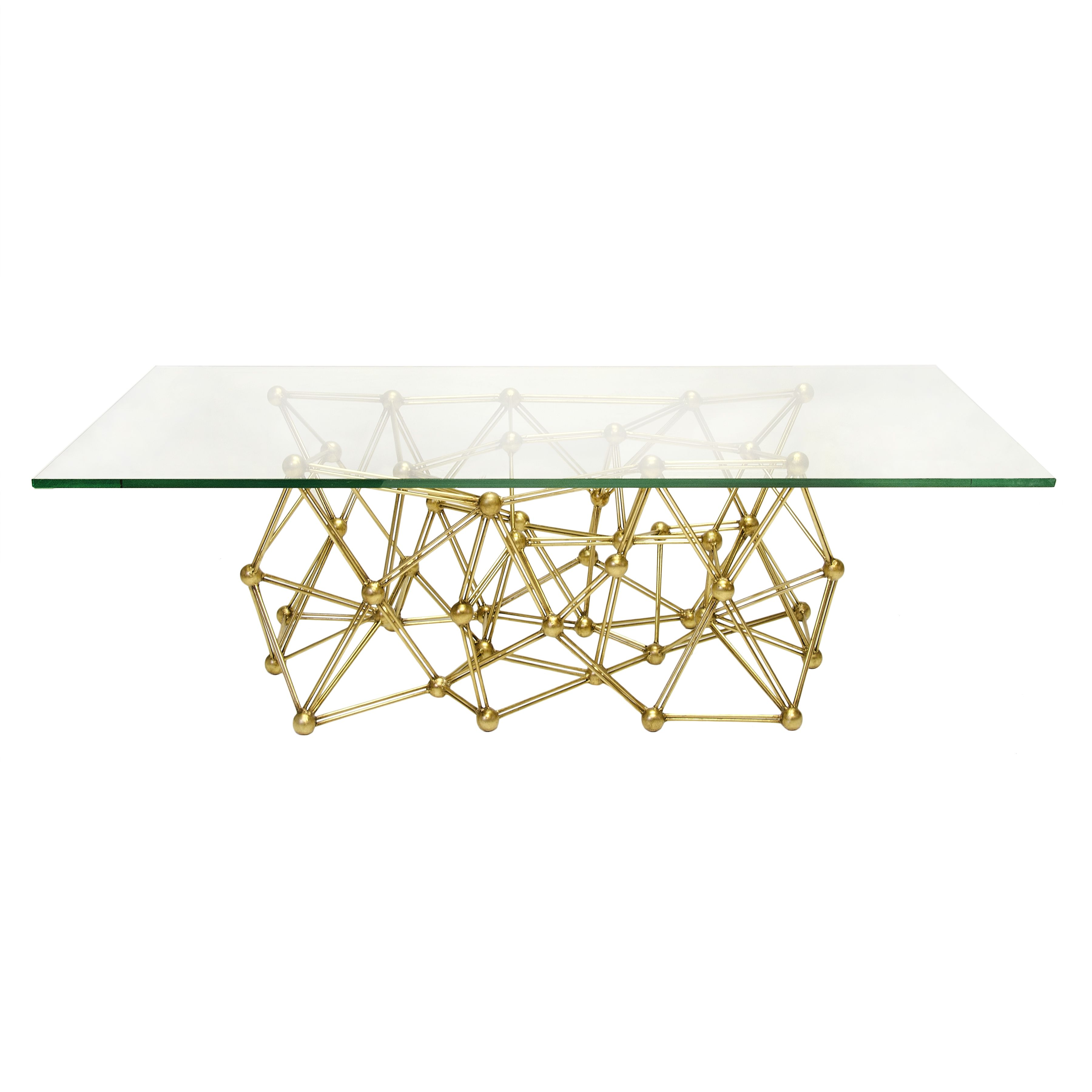 Worlds Away – Molecule CFG – Gold leafed coffee table base with