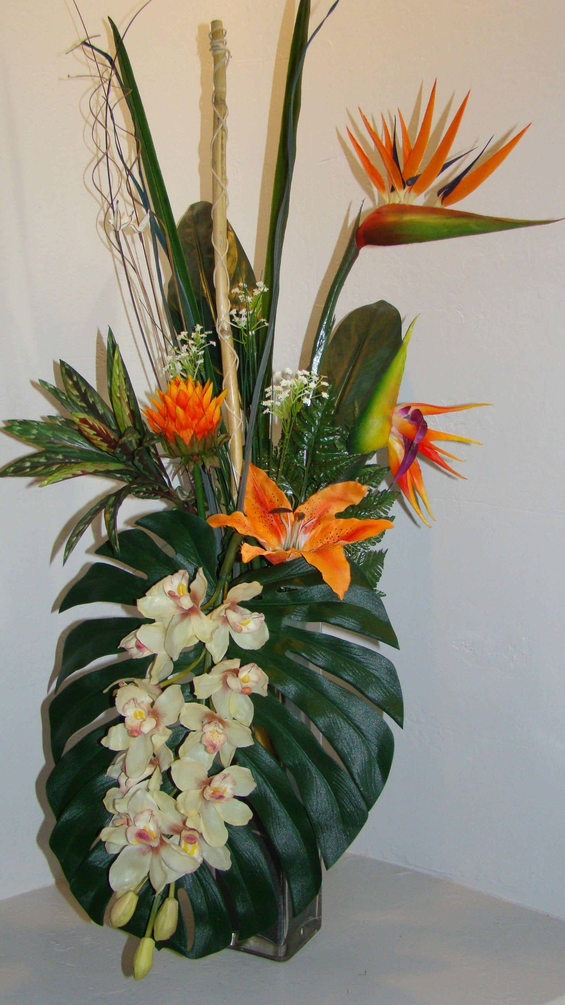 Beautiful silk flower arrangements home design ideas tropical silk flower arrangement mightylinksfo