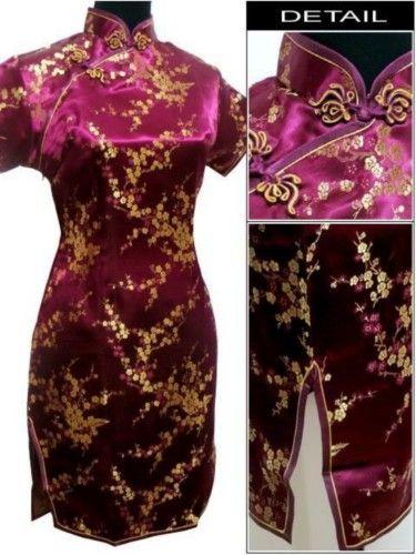 Traditional Chinese Cheongsam Qipao Dress Plus Size QS22