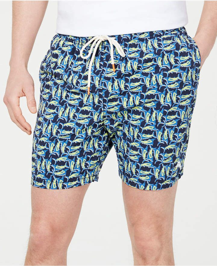 60e5cdb005 Men's Naples Moorea Marlins Printed 6 Swim Trunks in 2019 | Products ...