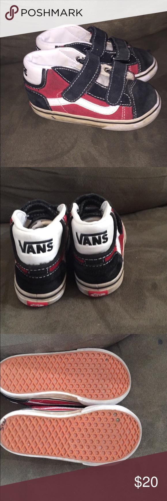 c0874217b4 Toddler boys Vans. Size 8 Excellent condition! Vans high tops Velcro straps size  8 toddler Vans Shoes Sneakers