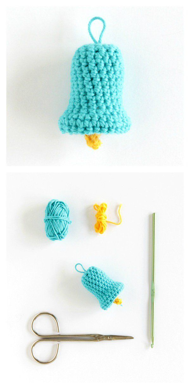 Free Christmas Bell Ornament Crochet Patterns | Christmas bells ...
