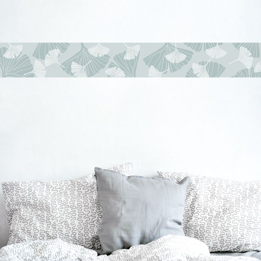 Ginkgo Leaves Removable Border Living Room Wall Single