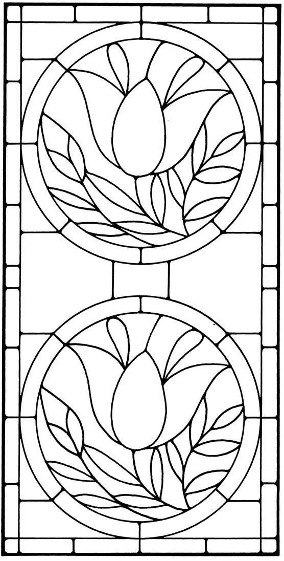Floral Stained Glass Pattern Book | Things for crafts | Pinterest ...