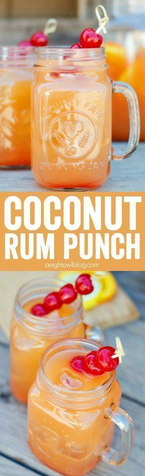 Coconut Rum Punch | A Night Owl Blog