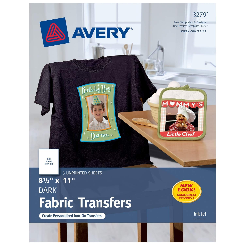 Avery Dark T Shirt Transfers Matte 8 5 X 11 5 Sheets Make Your Own Christmas Shirt 3279 Price 2 5 T Shirt Transfers Avery Printable Transfer Paper