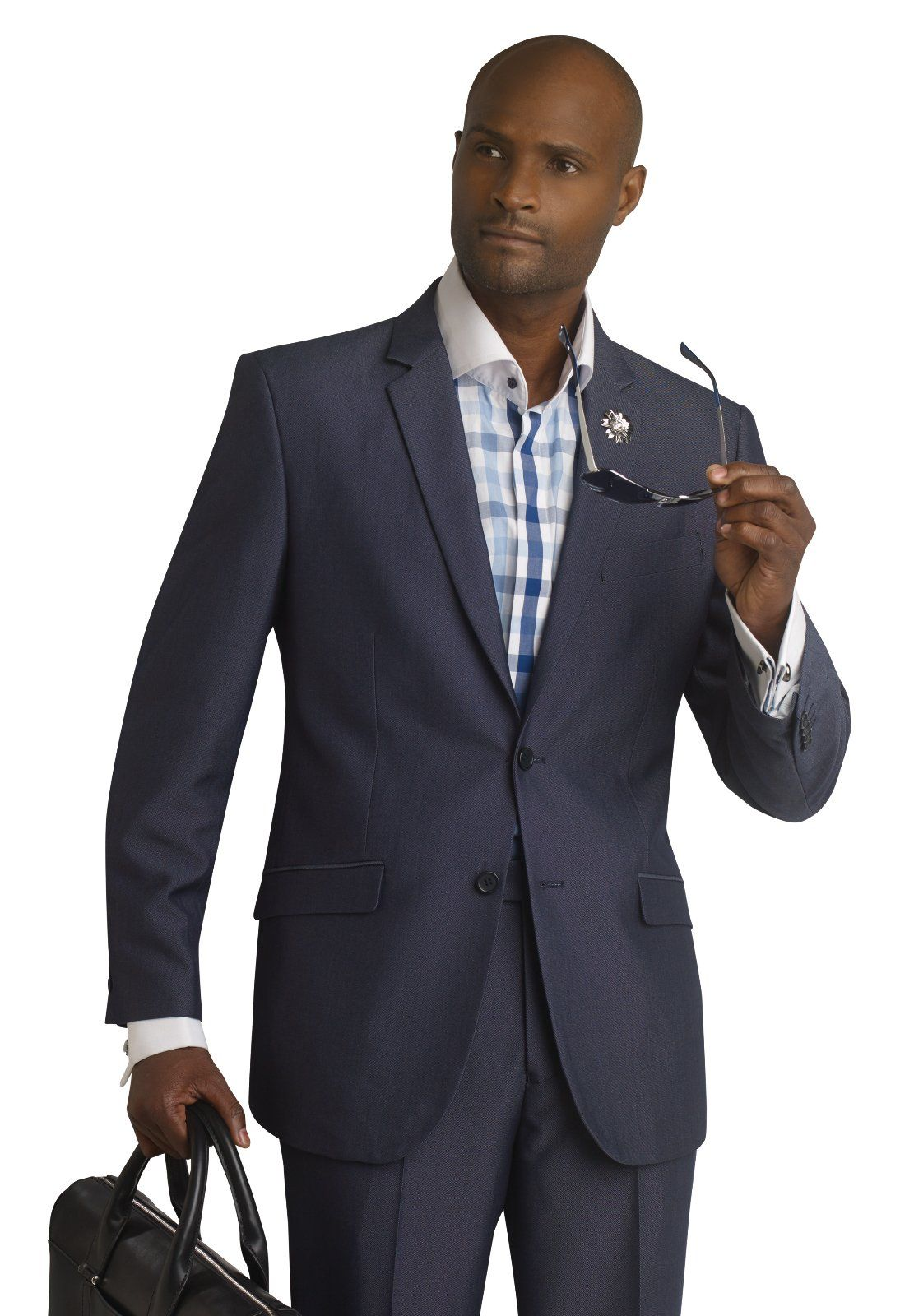 E. J. Samuel Slim Fit Business Mens Navy Suit M18004 Cyber Monday ...