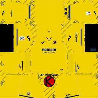 Villarreal Cf 2019 2020 Kit Dream League Soccer Kits Soccer Kits Villarreal Cf Goalkeeper Kits