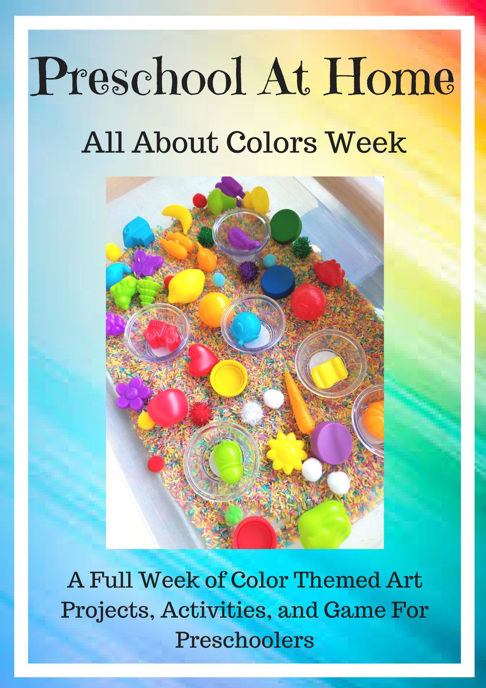 Photo of Preschool At Home: Colors In Nature. A full week of color themed art projects, a…