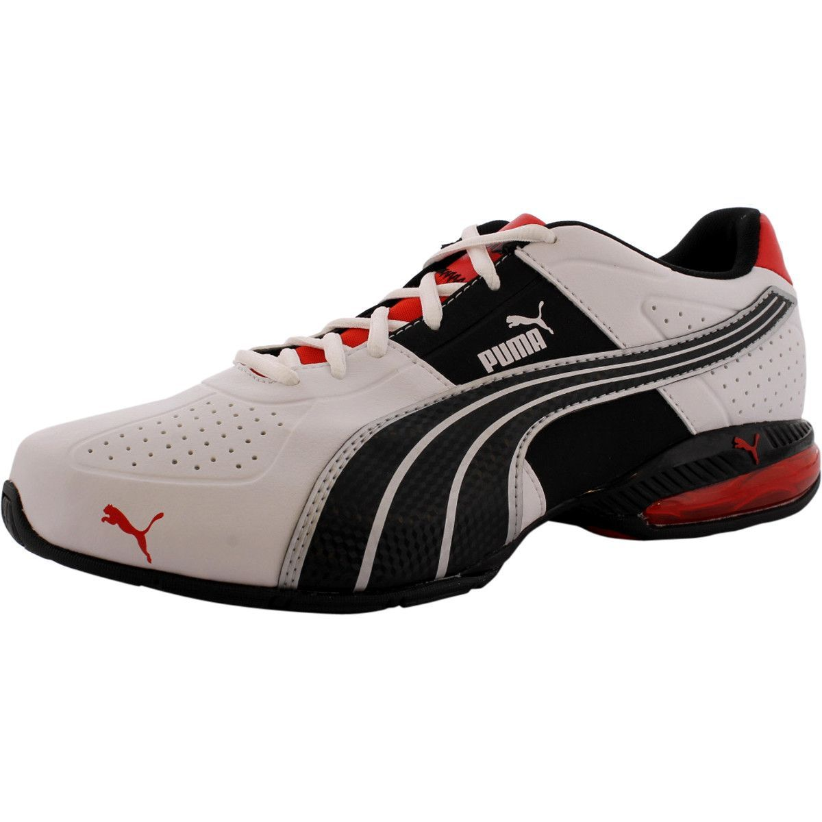 6a41c7fecfc5 Puma - Men s Cell Surin Running Shoes - White Flame Scarlet Black ...