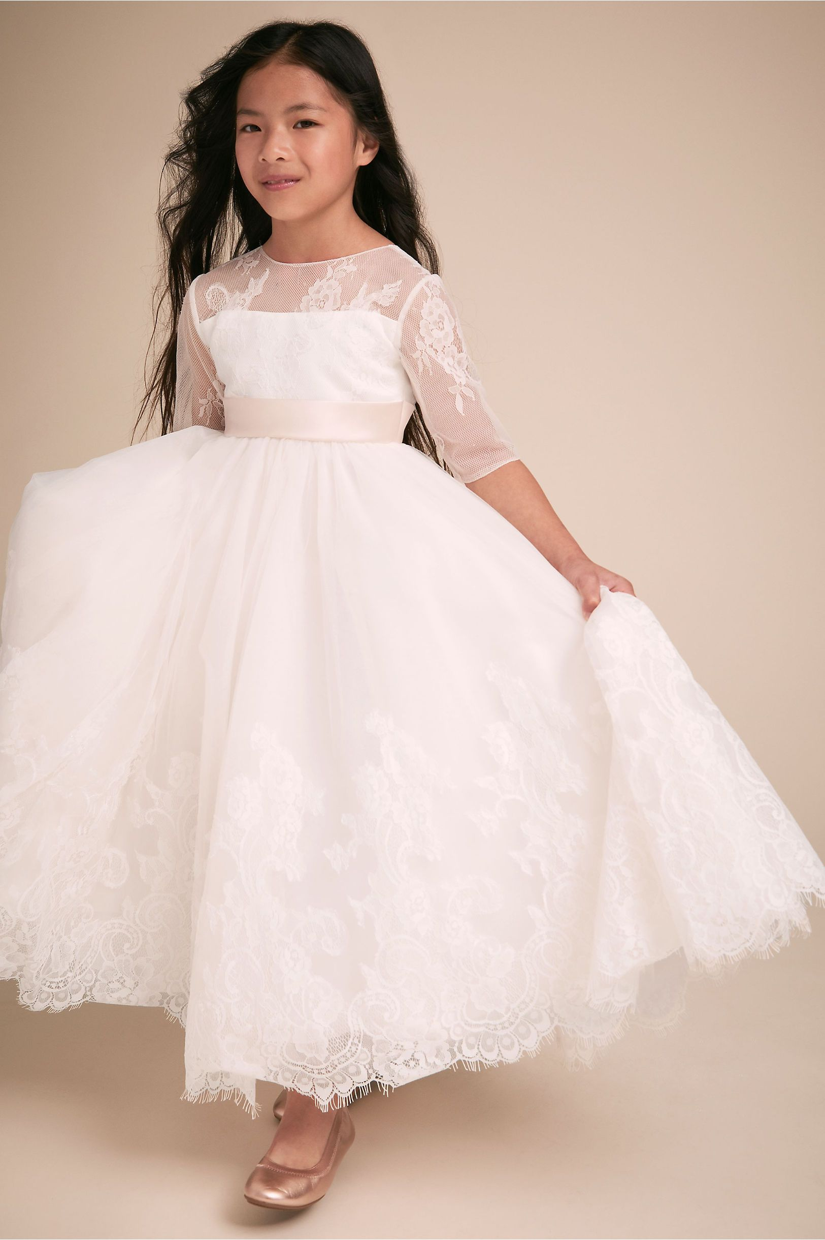 Carling Dress Pretty flower girl dresses, Ivory flower