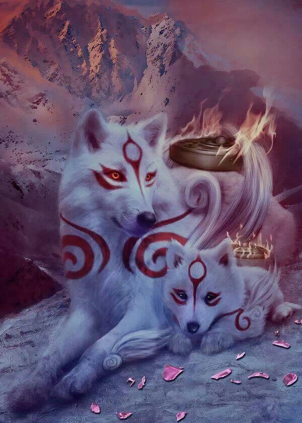 Photo of #Amaterasu #Chibiterasu #DeviantArt #DolceCaramella #Okami Unique fantasy wolves…