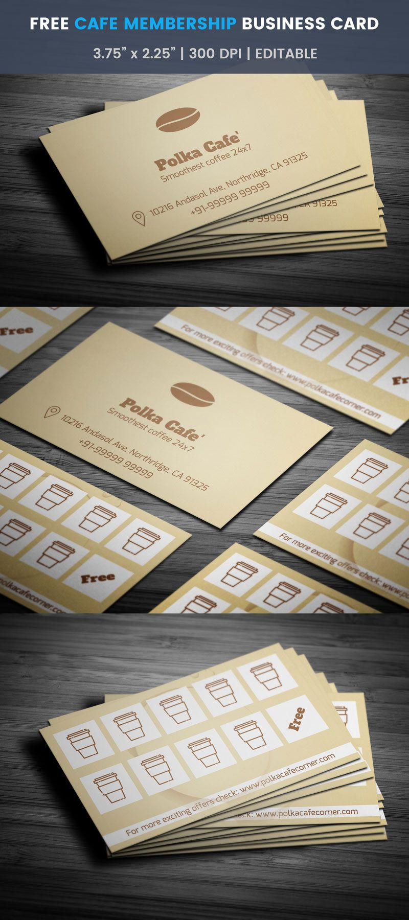 Cafe Membership Business Card Full Preview Free Business Card