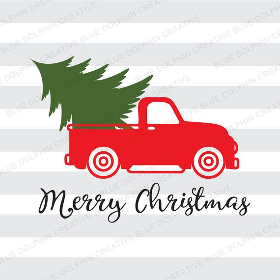 Christmas Tree Truck Svg Free.Vintage Truck Christmas Tree Delivery Svg Dxf Png Pdf Jpg Ai