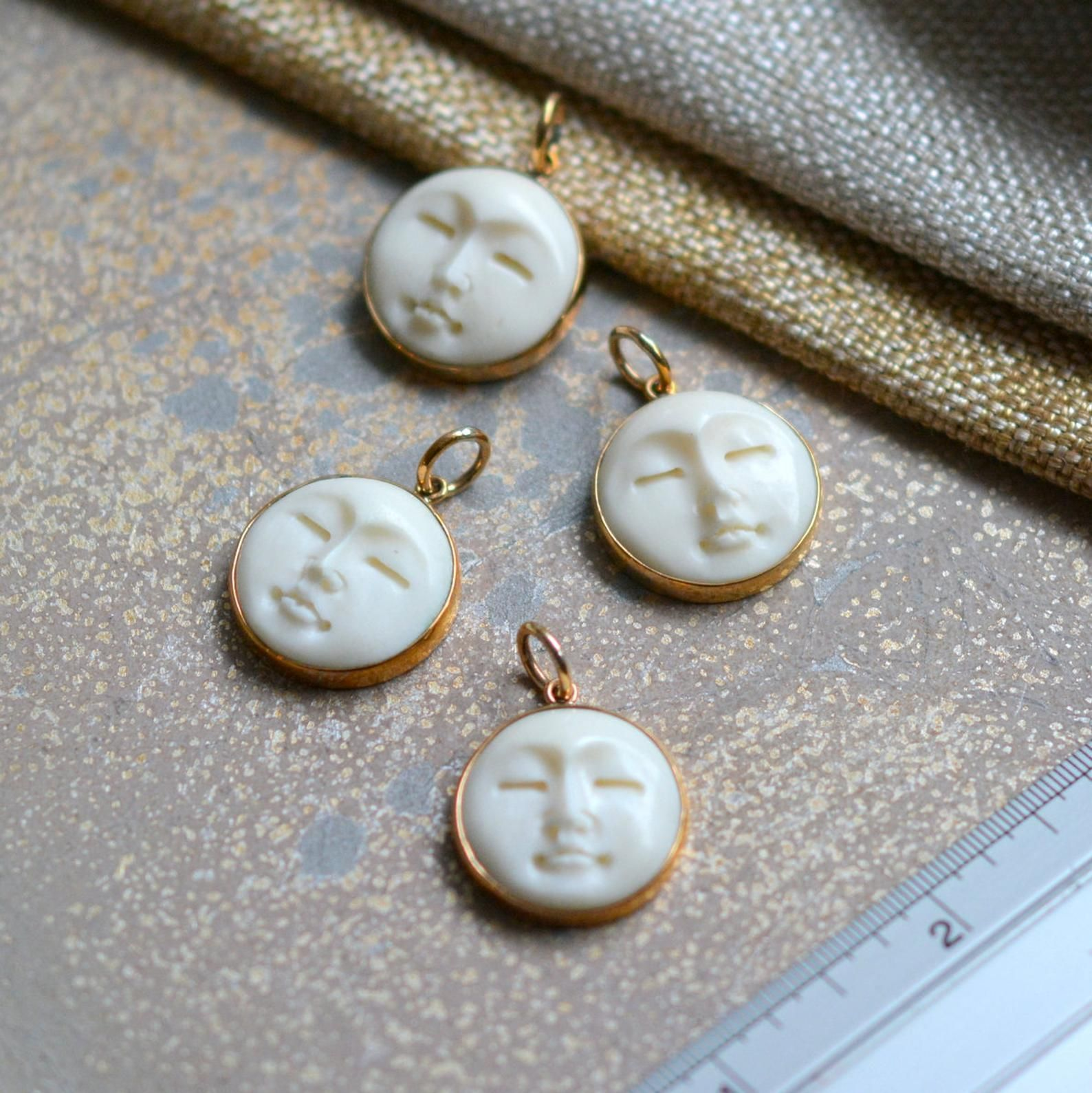 1 20mm Carved Bone Moon Face Bronze Pendant Bone Carving Set In Natural Bronze Sleeping Moon Choose Qty Bs17 1107a Bone Carving Moon Face Bronze Pendant