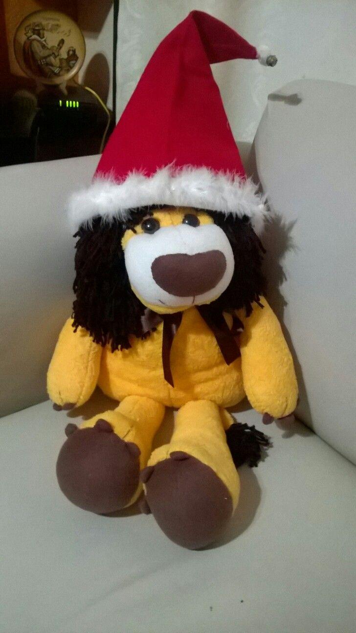 Leóncito navideño, hecho en polar.