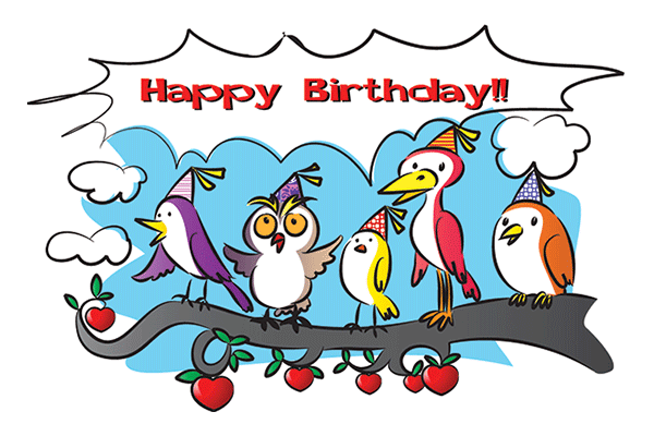 Birthday Birds Emoticons For Special Occasions Pinterest Happy