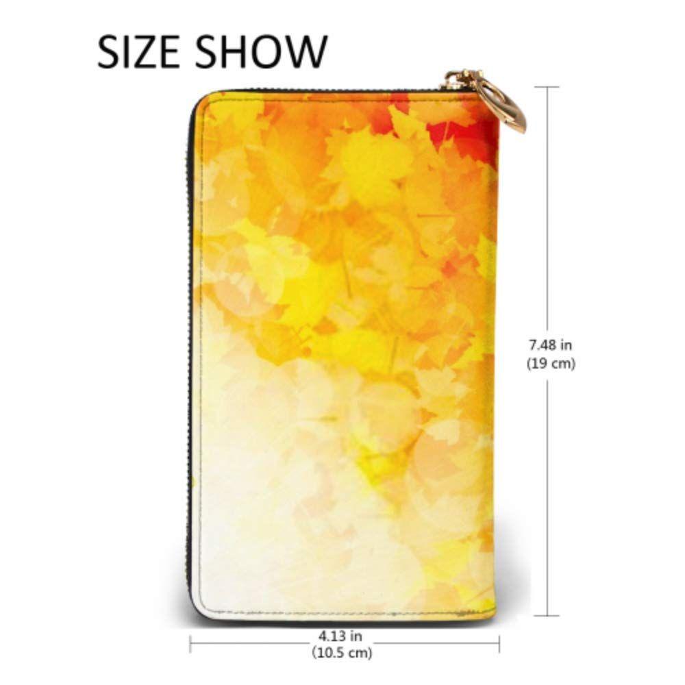 Fashion Handbag Zipper Wallet Autumnal Leaf Maple Sunlight Phone Clutch Purse Evening Clutch Blocking Leather Wallet Multi Card, #Ad #Leaf, #Autumnal, #Sunlight, #Maple